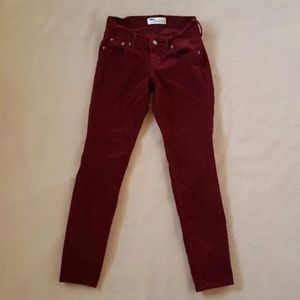 Burgundy Maroon Corduroy Pants 0 Short